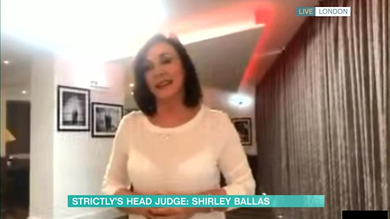 Shirley appeared live from her home on This Morning (Photo: ITV/Shutterstock)