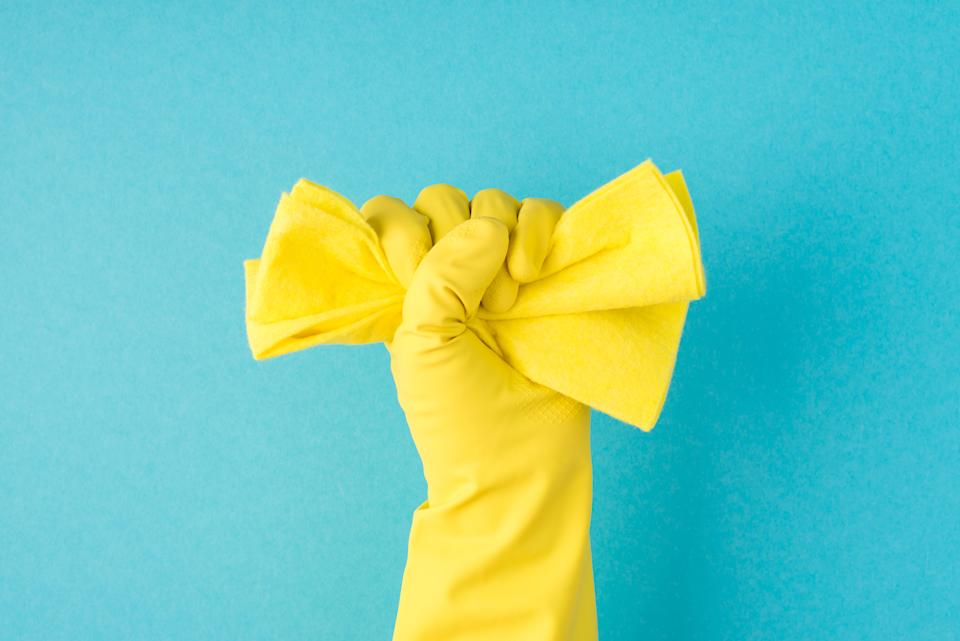 What do you we need? Cleaning supplies! (Photo: Gettyimages)