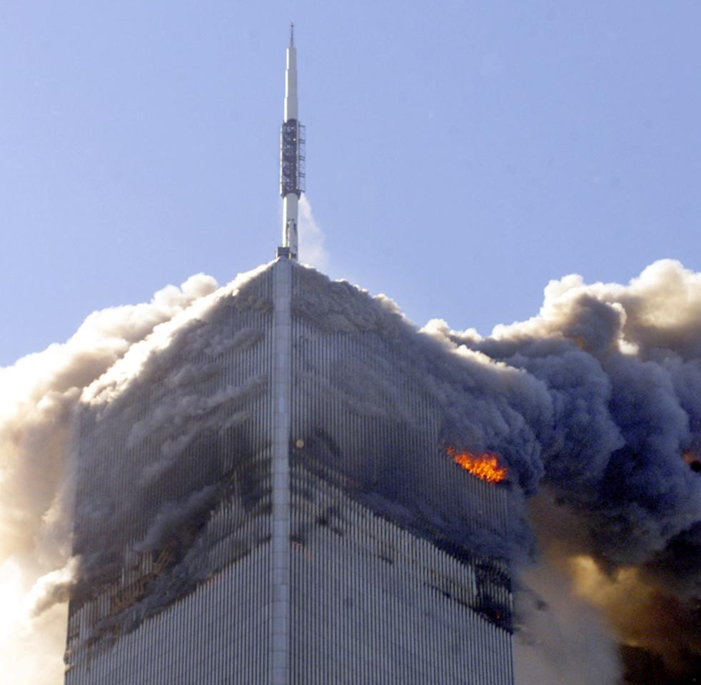 This Sept. 11, 2001photo of the north tower of the World Trade Center shows the building 30 seconds before its collapse. The Federal Emergency Management Agency has hired engineers to study the collapse of the World Trade Center and make recommendations on how to address future disasters. (AP Photo/Richard Drew)