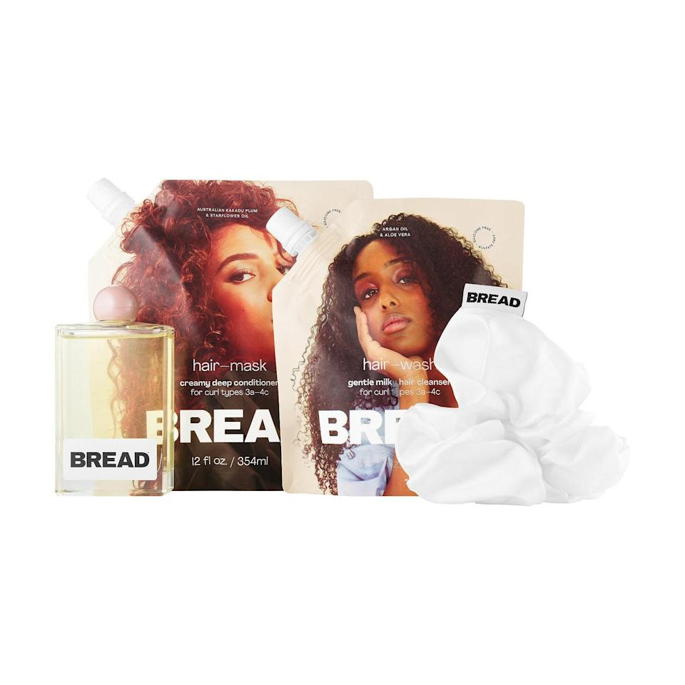 """For your best friend whose been embracing her natural texture during quarantine, Bread Beauty Supply is a <a href=""""https://www.glamour.com/gallery/black-owned-beauty-brands?mbid=synd_yahoo_rss"""" rel=""""nofollow noopener"""" target=""""_blank"""" data-ylk=""""slk:Black-owned hair care brand"""" class=""""link rapid-noclick-resp"""">Black-owned hair care brand</a> on a mission to simplify wash day. The brand got picked up by Sephora in July, and its trio of wash day essentials (hair wash, mask, and oil) has already made it to the best-sellers page. $58, Bread Beauty Supply. <a href=""""https://shop-links.co/1718759481472042714"""" rel=""""nofollow noopener"""" target=""""_blank"""" data-ylk=""""slk:Get it now!"""" class=""""link rapid-noclick-resp"""">Get it now!</a>"""