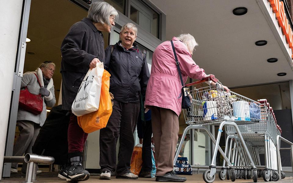 A minister has said he expects more pensioners 'will self-select whether they are vulnerable or not' - Leon Neal/Getty Images Europe
