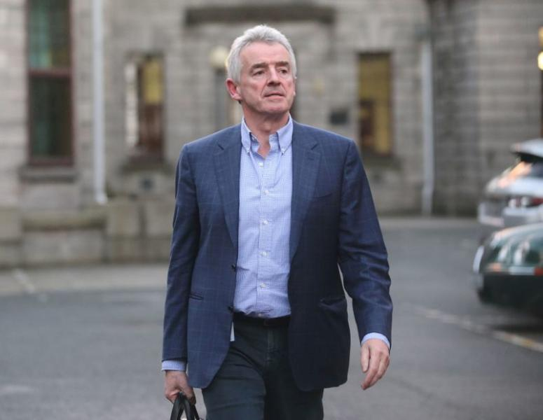 FILE PHOTO: Michael O'Leary of Ryanair at the Four Courts in Dublin