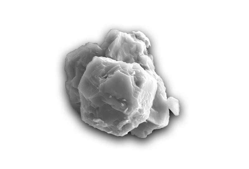 A undated handout picture taken by Janaína N. Ávila shows a scanning electron micrograph of a dated presolar silicon carbide grain.