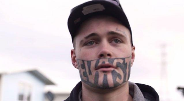 Cropp said he received the tattoo from his brother while in jail. Source: NZ Herald