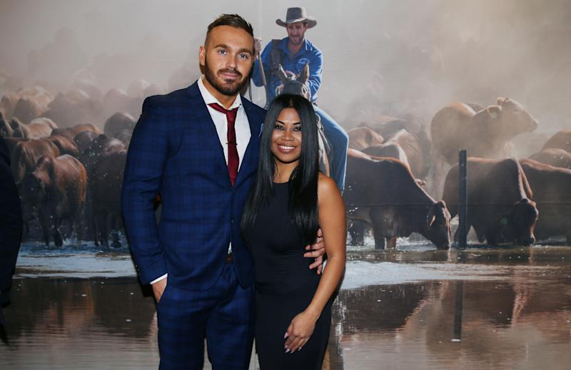 A photo of Eden Dally with Cyrell Paule at the launch of 'Things We Love: A collection of recipes and stories from the Hancock and Kidman pastoral properties on June 17, 2019 in Sydney, Australia.