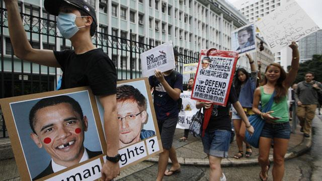 Protesters Take to Hong Kong Streets in Support of NSA Leaker Edward Snowden