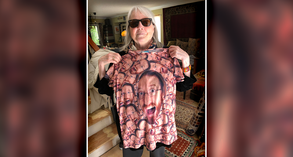 Bev returned to the store and bought the shirt. Source: Supplied