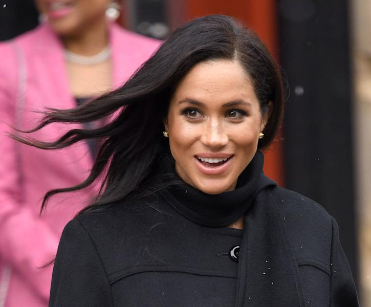Meghan Markle left the hospital after giving birth wearing one of her signature hairstyles. See the Duchess of Sussex's post-pregnancy hair here.