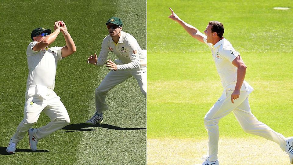 Hazlewood claimed the first wicket of the summer. Pic: Getty