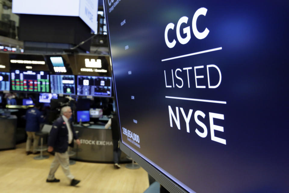 Canopy Growth said its deal to acquire The Supreme Cannabis Company valued at approximately $435 million. (AP Photo/Richard Drew)