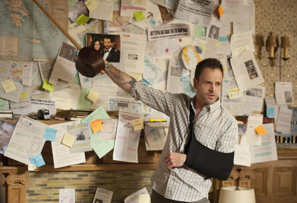 """Heroine"" - Sherlock (Jonny Lee Miller) and Joan once again find themselves in the crosshairs of the enigmatic Moriarty, on the two-hour season finale of ""Elementary."""