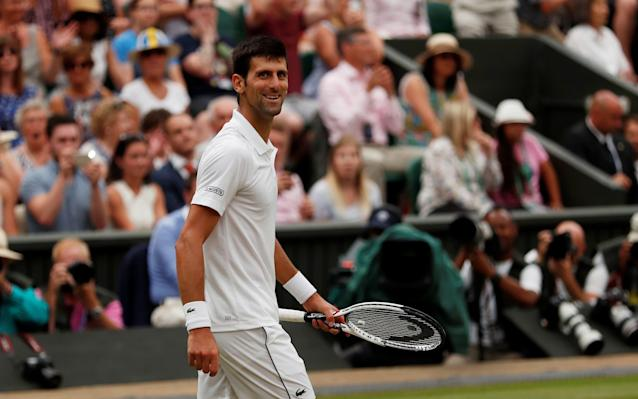Novak Djokovic is through to the Wimbledon final - REUTERS