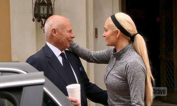 """Tom Girardi and his wife Erika Jayne during the episode """"Horsing Around"""" of the Bravo television show The Real Housewives of Beverly Hills."""
