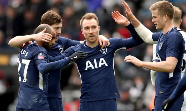Christian Eriksen fires Tottenham past Swansea and into FA Cup semi-finals