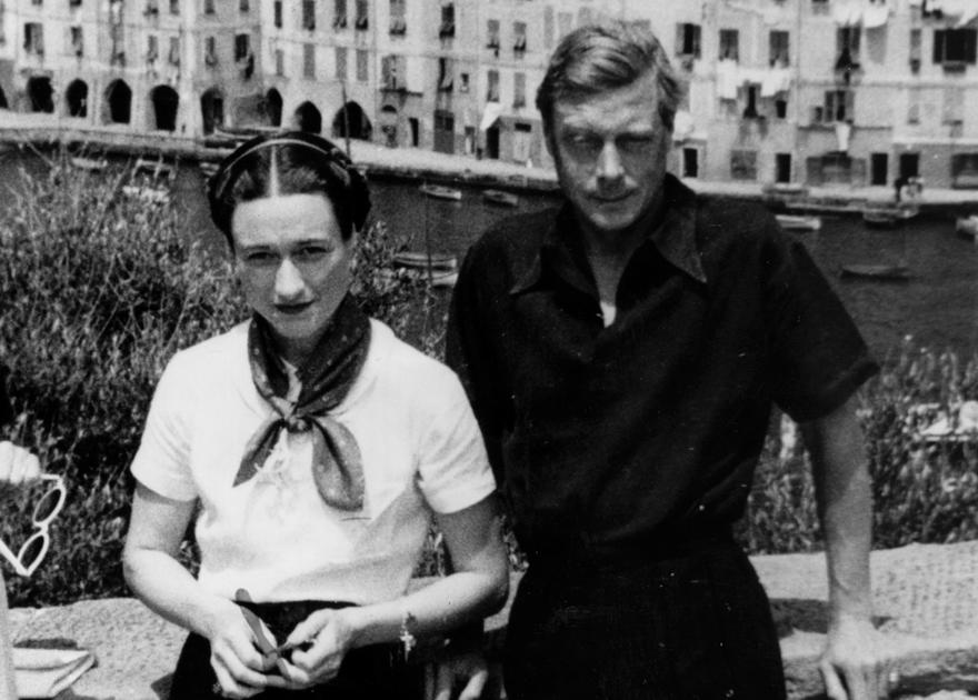 Edward VIII and Mrs Wallis Simpson, during a cruise in the Adriatic in October 1936, before the couple's romance became widely known: Getty