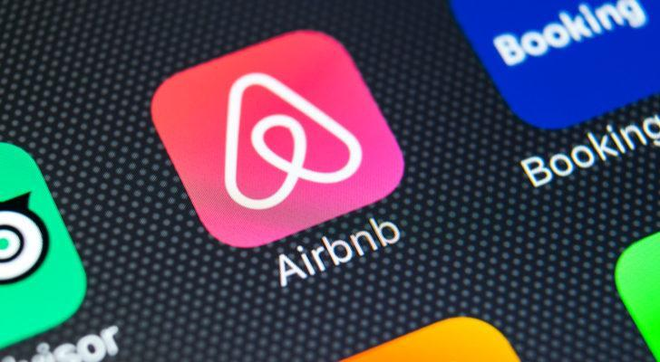 Airbnb (ABNB) app on a smartphone screen