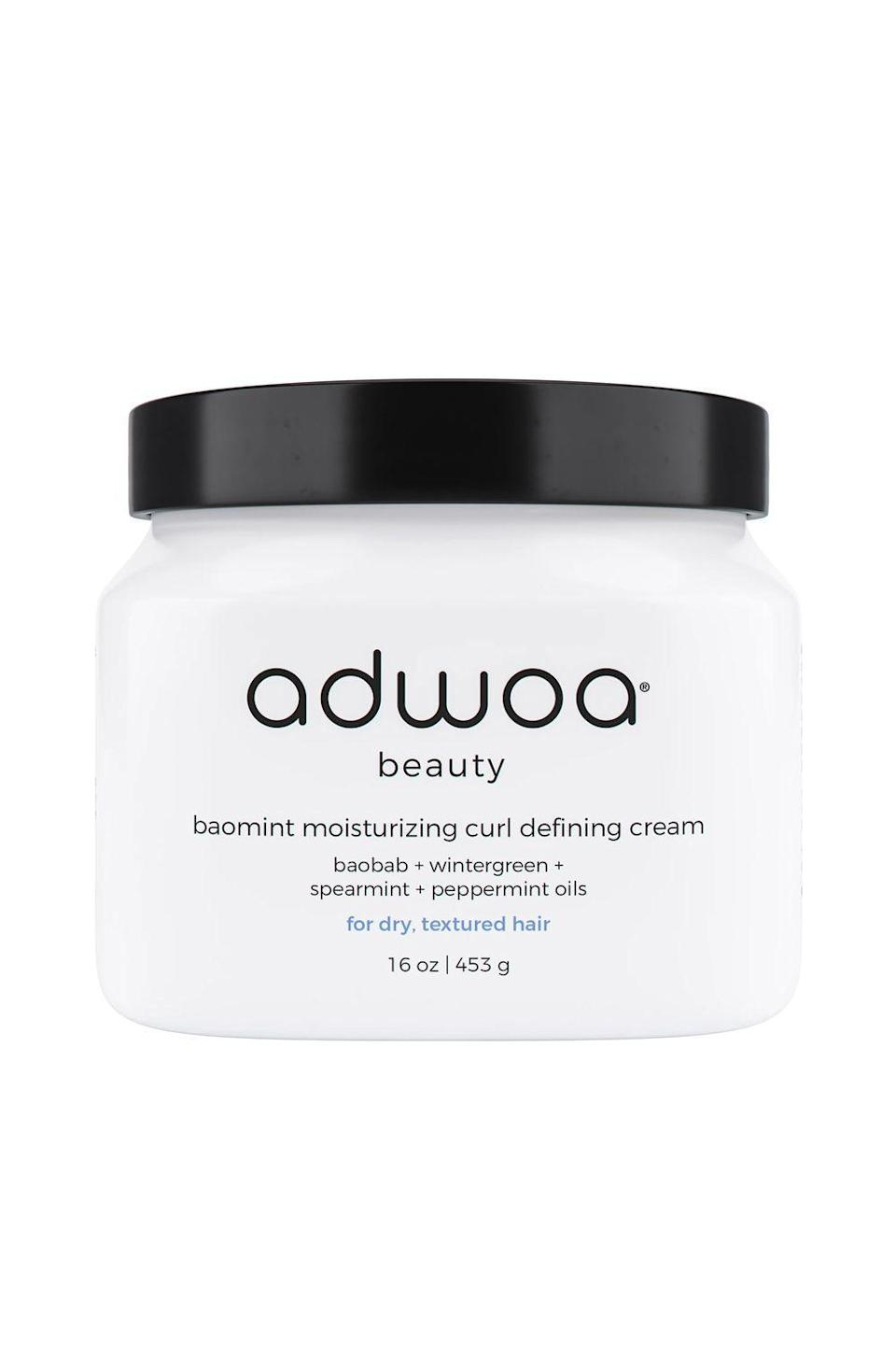 """<p><strong>adwoa beauty</strong></p><p>sephora.com</p><p><strong>$32.00</strong></p><p><a href=""""https://go.redirectingat.com?id=74968X1596630&url=https%3A%2F%2Fwww.sephora.com%2Fproduct%2Fadwoa-beauty-baomint-moisturizing-curl-defining-cream-P457236&sref=https%3A%2F%2Fwww.cosmopolitan.com%2Fstyle-beauty%2Fbeauty%2Fg33473200%2Fbest-organic-hair-products%2F"""" rel=""""nofollow noopener"""" target=""""_blank"""" data-ylk=""""slk:Shop Now"""" class=""""link rapid-noclick-resp"""">Shop Now</a></p><p>This ultra-rich organic <a href=""""https://www.cosmopolitan.com/style-beauty/beauty/a23066979/best-curl-cream-natural-hair/"""" rel=""""nofollow noopener"""" target=""""_blank"""" data-ylk=""""slk:curl cream"""" class=""""link rapid-noclick-resp"""">curl cream</a> is packed with tons of good-for-you ingredients, like moisturizing shea butter, conditioning honey, and smoothing silk proteins. Use it on wet, damp, or dry hair for <strong>curls and coils that are shiny, soft, defined, and hydrated as hell.</strong></p>"""