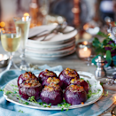 """<p>Half of this meat stuffing is used in the turkey recipe. Alternatively, freeze and use at a later date.</p><p><strong>Recipe: <a href=""""https://www.goodhousekeeping.com/uk/food/recipes/a565536/stuffing-baubles/"""" rel=""""nofollow noopener"""" target=""""_blank"""" data-ylk=""""slk:Jewelled stuffing baubles"""" class=""""link rapid-noclick-resp"""">Jewelled stuffing baubles</a></strong></p>"""