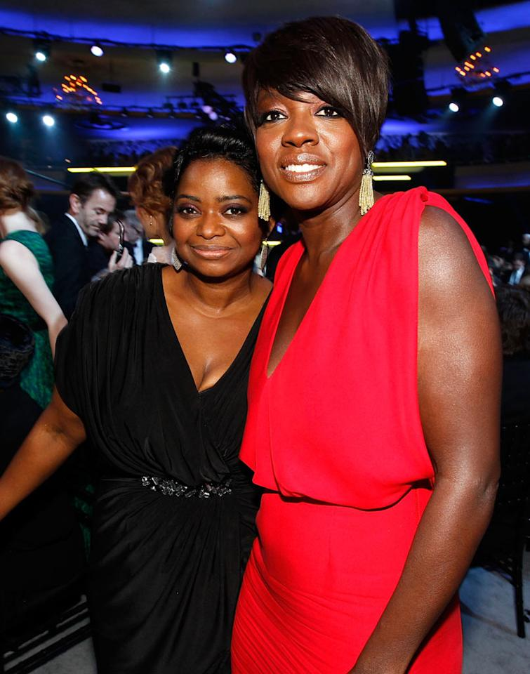 "<a href=""http://movies.yahoo.com/movie/contributor/1800343317"">Octavia Spencer</a> and <a href=""http://movies.yahoo.com/movie/contributor/1800315745"">Viola Davis</a> at the 17th Annual Critics' Choice Awards reception in Hollywood on January 12, 2012."
