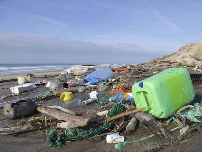 An estimated eight million tonnes of plastic pollution enters the sea each year: Getty