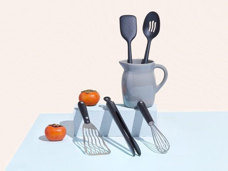 """<h2>The Utensils Set</h2><br>Tongs, a whisk, a slotted spoon, a spatula, and slotted spatula, oh my! All the accessories you need for cooking can be found in the EP utensil set.<br><br><strong>Equal Parts</strong> The Utensils Set, $, available at <a href=""""https://go.skimresources.com/?id=30283X879131&url=https%3A%2F%2Fequalparts.com%2Fproducts%2Fkitchen-utensils-set"""" rel=""""nofollow noopener"""" target=""""_blank"""" data-ylk=""""slk:Equal Parts"""" class=""""link rapid-noclick-resp"""">Equal Parts</a>"""