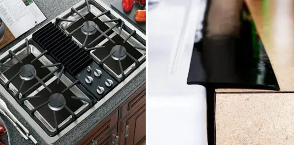 """Add these to your gas-range stove, and it will be a heckuva lot easier to clean.<br /><br /><strong>Promising review:</strong>""""<strong>These little covers are just fantastic!</strong>Easy to cut and form to the burners I need, super easy to wipe off or quick rinse if need be. They WILL burn if too close to the flame but it doesn't burn beyond what is touching the flame. I bought them because my guy though a FANTASTIC cook and baker is just a tad messy on the stovetop, lol. T<strong>his has helped me keep the stovetop much cleaner.</strong>I have reused the original four of these for a year and finally just tossed the two most used/dirtied and replaced them.<strong>These are just amazing and very durable!</strong>"""" —<a href=""""https://www.amazon.com/dp/B07G78899P?tag=huffpost-bfsyndication-20&ascsubtag=5834502%2C18%2C46%2Cd%2C0%2C0%2C0%2C962%3A1%3B901%3A2%3B900%3A2%3B974%3A3%3B975%3A2%3B982%3A2%2C16267173%2C0"""" target=""""_blank"""" rel=""""noopener noreferrer"""">AngsChaos</a><br /><br /><strong>Get an 8-pack from Amazon for<a href=""""https://www.amazon.com/dp/B07G78899P?tag=huffpost-bfsyndication-20&ascsubtag=5834502%2C18%2C46%2Cd%2C0%2C0%2C0%2C962%3A1%3B901%3A2%3B900%3A2%3B974%3A3%3B975%3A2%3B982%3A2%2C16267173%2C0"""" target=""""_blank"""" rel=""""noopener noreferrer"""">$12.99+</a>(available in two colors).</strong>"""
