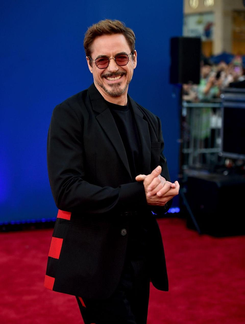 """<p>In 2008, Robert was cast as the lead in <em>Iron Man, </em>which has led to many Marvel movies over the last decade. The following year, the actor appeared as the fast-talking Sherlock Holmes, for which he <a href=""""https://www.imdb.com/name/nm0000375/"""" rel=""""nofollow noopener"""" target=""""_blank"""" data-ylk=""""slk:won a Golden Globe"""" class=""""link rapid-noclick-resp"""">won a Golden Globe</a>.</p>"""