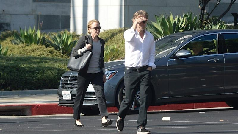 The couple was photographed visiting a superior courthouse in Los Angeles, California, on Monday.