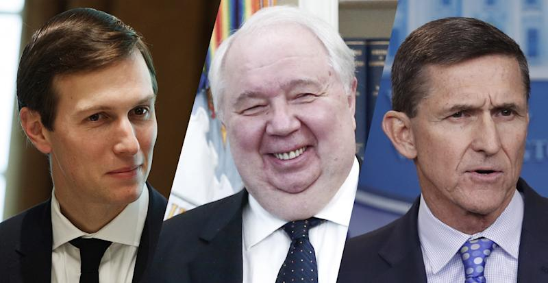 Jared Kushner, Sergey Kislyak and Michael Flynn