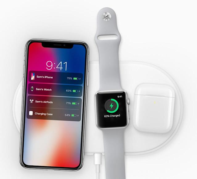 The new iPhone X and the Apple Watch Series 3 are seen here. (Apple)