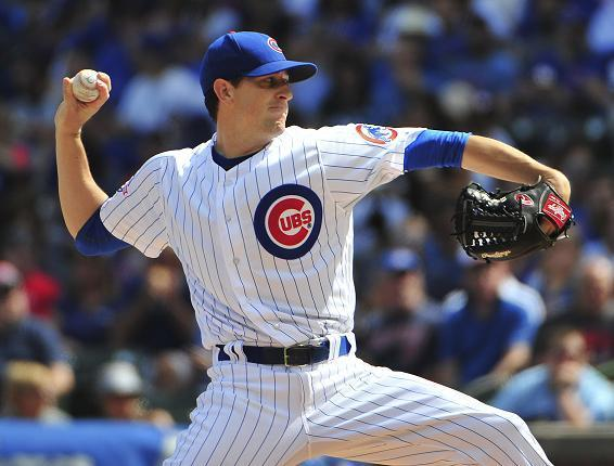 Kyle Hendricks has pitched his way into being a Cy Young favorite in the National League. (AP)