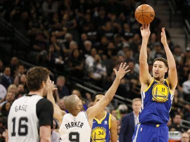 Kevin Durant scored 26 points as the Warriors beat San Antonio 110-97 to take a 3-0 lead over the Spurs who were playing with heavy hearts after the death of Gregg Popovich's wife.