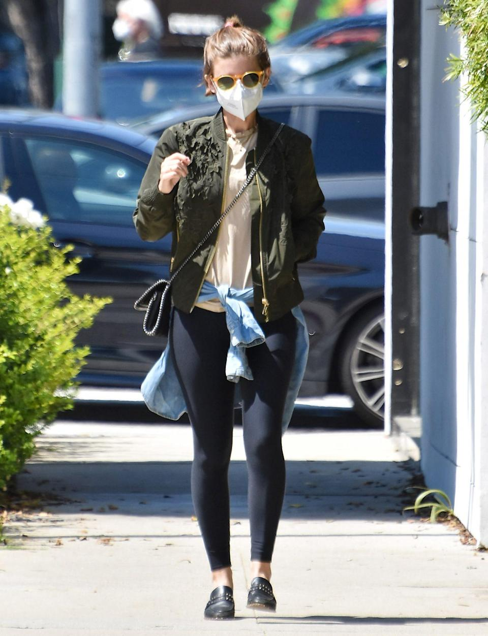<p>Kate Mara keeps covered up while out in Los Angeles on Wednesday. </p>