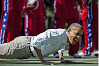 <p>Who knew presidents liked to work out? Should they desire, a personal trainer is available for their clients to get in a good sweat.</p>