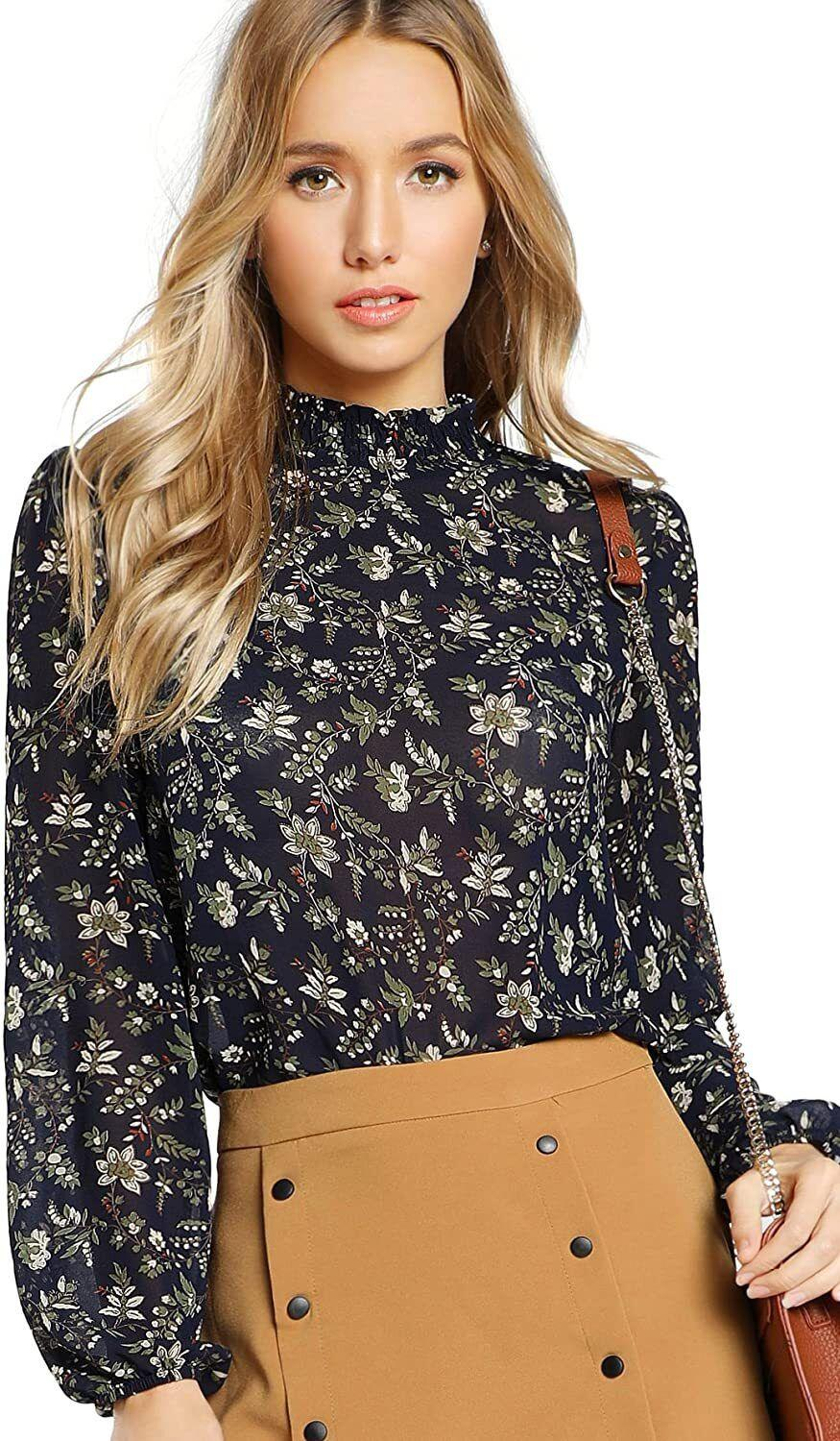 """Because this blouse comes in such a variety of vibrant prints, no one will even be able to detect you own more than one.<br /><br /><strong>Promising review</strong>: """"<strong>I ordered the dark green floral pattern first, and loved it so much I got the cheetah print one!</strong>Comfortable fit that is versatile and perfect for work. I've paired the tops untucked with ankle-length pixie pants, and also tucked in with a high wasted skirt. Be warned — the material has no give! With tops like these, I typically get a large to ensure it fits over my broad (probably broader than average) shoulders. The large in this top was just right for me."""" —<a href=""""https://www.amazon.com/gp/customer-reviews/R9HXV0M38XQ2G?&linkCode=ll2&tag=huffpost-bfsyndication-20&linkId=dfa831a34416b014eec051f67d377674&language=en_US&ref_=as_li_ss_tl"""" target=""""_blank"""" rel=""""nofollow noopener noreferrer"""" data-skimlinks-tracking=""""5876227"""" data-vars-affiliate=""""Amazon"""" data-vars-href=""""https://www.amazon.com/gp/customer-reviews/R9HXV0M38XQ2G?tag=bfchelsea-20&ascsubtag=5876227%2C3%2C35%2Cmobile_web%2C0%2C0%2C16401184"""" data-vars-keywords=""""cleaning,fast fashion"""" data-vars-link-id=""""16401184"""" data-vars-price="""""""" data-vars-product-id=""""20980899"""" data-vars-product-img="""""""" data-vars-product-title="""""""" data-vars-retailers=""""Amazon"""">Carly P</a><br /><br /><strong><a href=""""https://www.amazon.com/Floerns-Womens-Floral-Sleeve-Chiffon/dp/B0786LZ17G?&linkCode=ll1&tag=huffpost-bfsyndication-20&linkId=add58a1acc871d644157730c3d1268ae&language=en_US&ref_=as_li_ss_tl"""" target=""""_blank"""" rel=""""noopener noreferrer"""">Get it from Amazon for$19.99+(available in sizes XS–XXL and in 21 patterns).</a></strong>"""