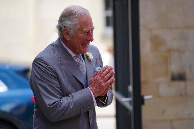 The Prince of Wales arrives for a visit to the Oxford India Centre (Jacob King/PA)