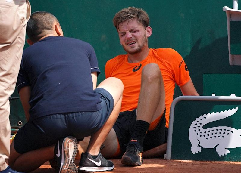 Goffin says he won't play Wimbledon due to ankle injury
