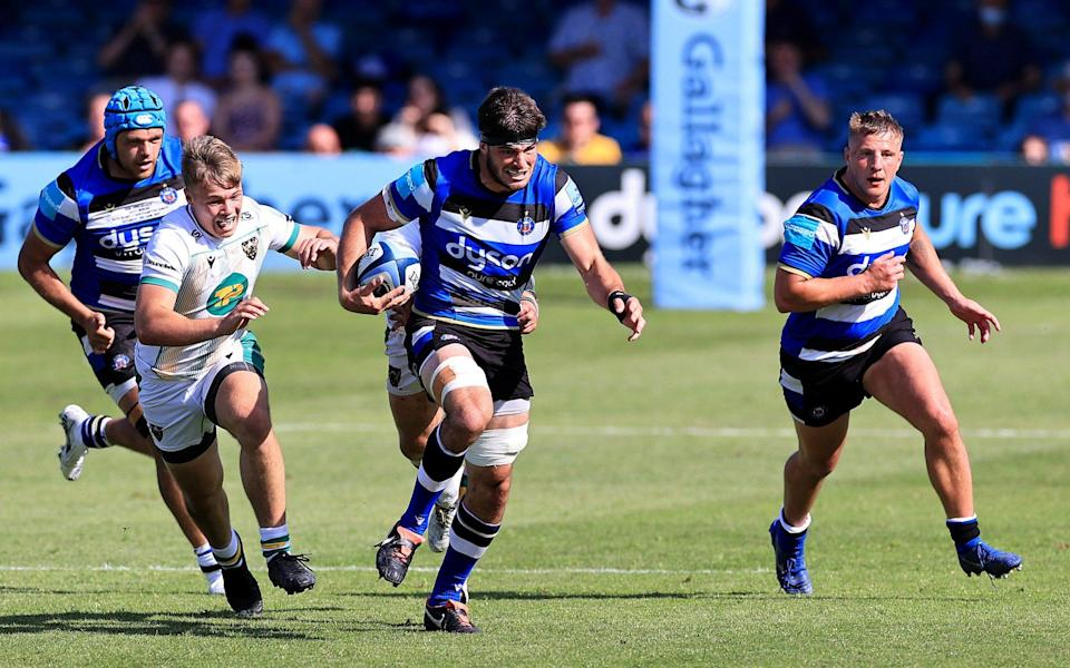 Josh Bayliss breaks free for late try to earn Bath a European spot - GETTY IMAGES