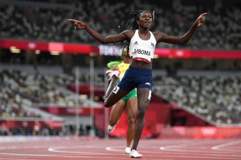Namibian teenager Christine Mboma has been one of the revelations of the 2021 season (AFP/Jewel SAMAD)