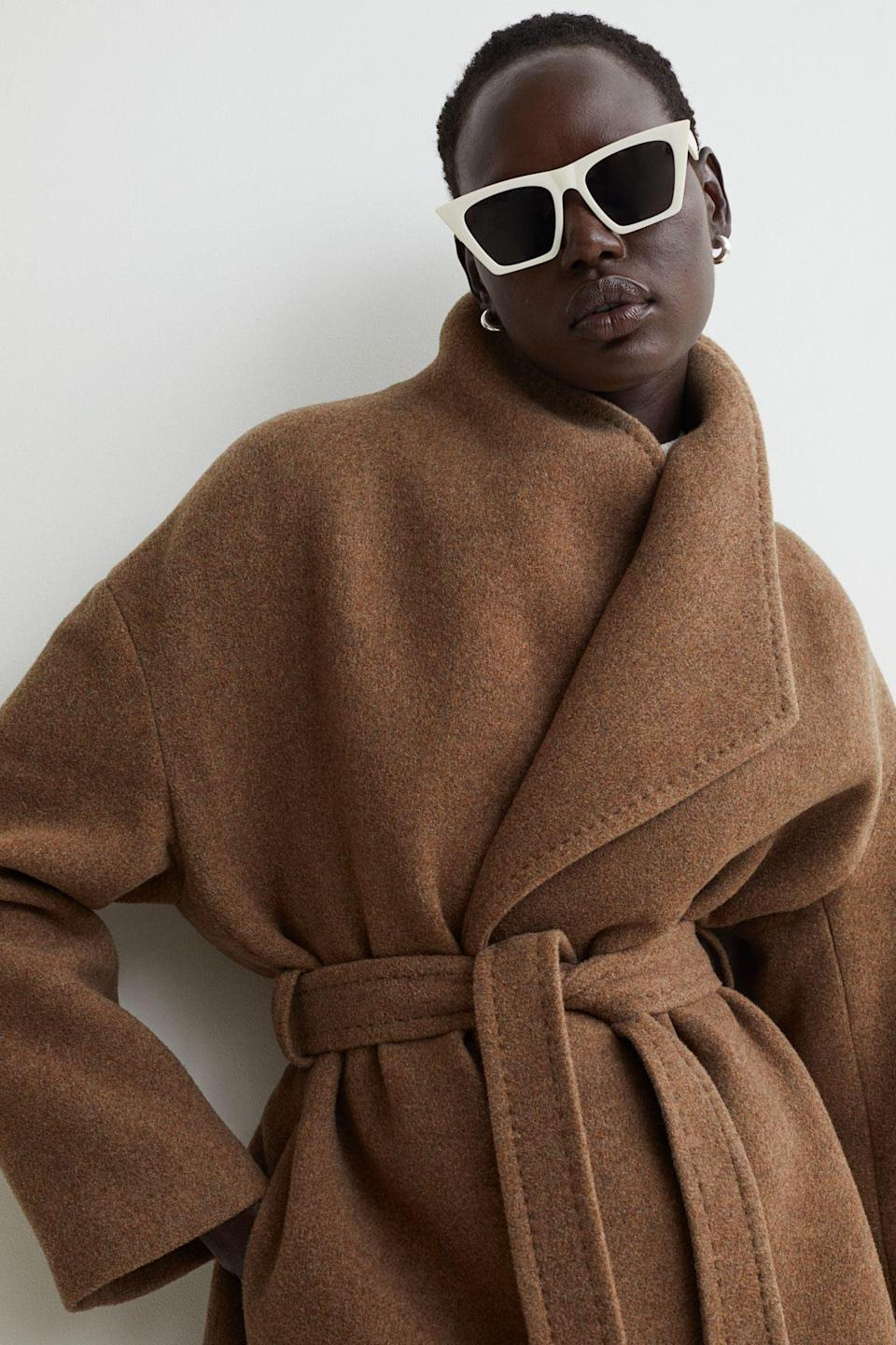 <p>The best part about this <span>Wool-blend Coat</span> ($129) is that you you throw it over anything, and still look put-together. Style it with a slip dress or with a pants and top combo.</p>