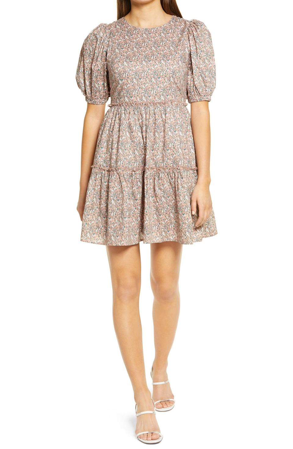 <p>This <span>English Factory Floral Puff Sleeve Dress</span> ($100) will stand out in any room.</p>