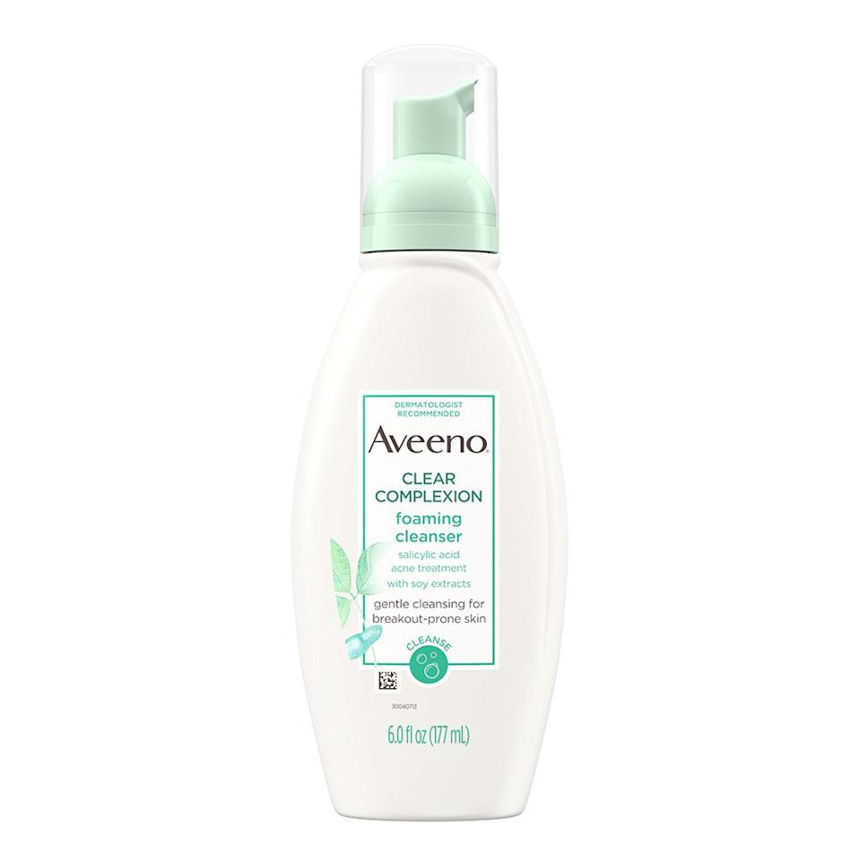 """<p><strong>Aveeno</strong></p><p>ulta.com</p><p><strong>$10.99</strong></p><p><a href=""""https://go.redirectingat.com?id=74968X1596630&url=https%3A%2F%2Fwww.ulta.com%2Fclear-complexion-foaming-cleanser%3FproductId%3Dprod2078390&sref=http%3A%2F%2Fwww.elle.com%2Fbeauty%2Fmakeup-skin-care%2Ftips%2Fg14%2Facne-scar-treatment%2F"""" target=""""_blank"""">Shop Now</a></p><p>Stubborn marks call for a powerful cleanser. """"If you have acne, consider using a cleanser that contains salicylic acid,"""" says Dr. Zeichner. """"Aveeno's Clear Complexion Foaming Cleanser delivers salicylic acid the skin without causing excessive dryness and helps remove excess oil and exfoliate dead cells from the surface of the skin to keep the pores clear.""""</p>"""