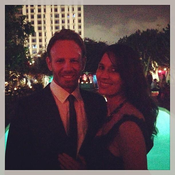 Ian Ziering & his gorgeous wife Erin at the #sharknado pre-party.