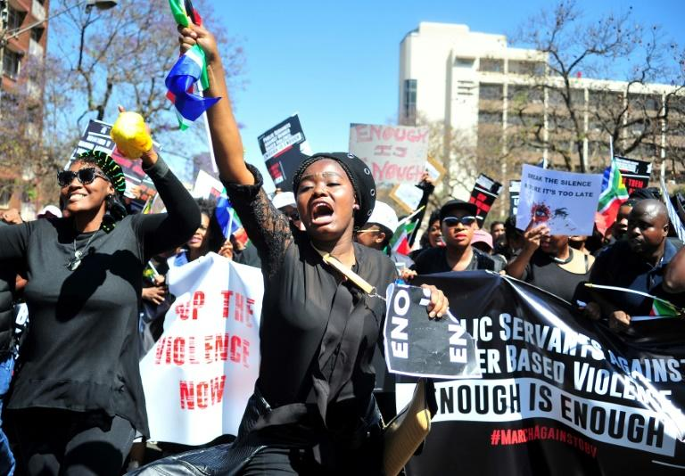 Enough is enough: A protest march in Pretoria in September (AFP Photo/Phill Magakoe)