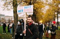 Protest against Poland's Constitutional Tribunal ruling on abortion, in Amsterdam