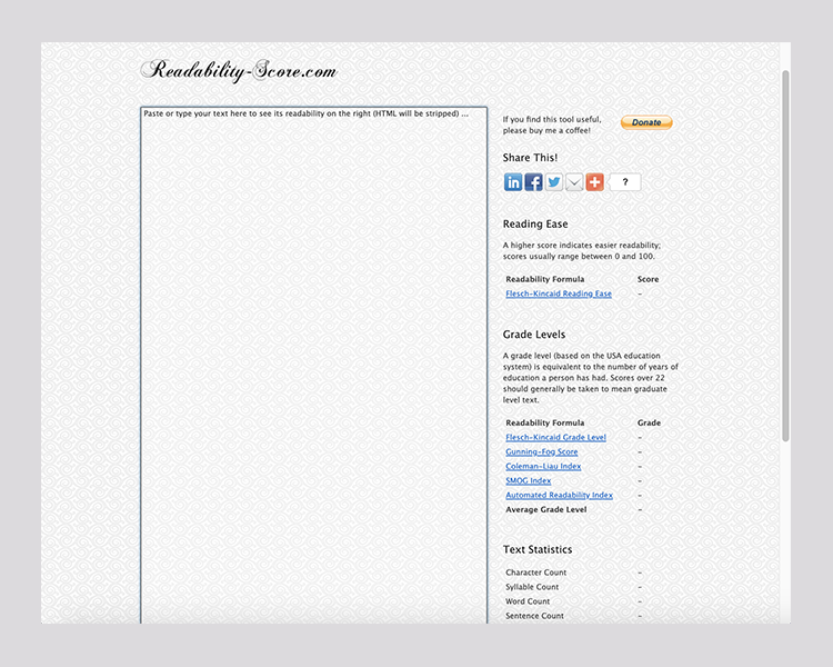 My favorite for readability checks by Added Bytes, 2013. I had an opinion on the selected background.
