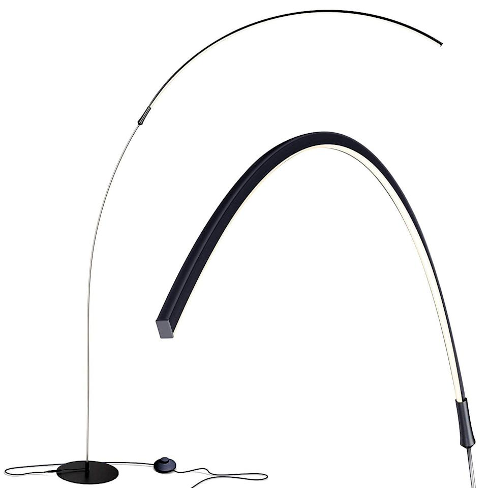 <p>This modern <span>Brightech Sparq Arc LED Floor Lamp</span> ($90, originally $96) will definitely make a statement. It's so unique, and will have houseguests talking.</p>