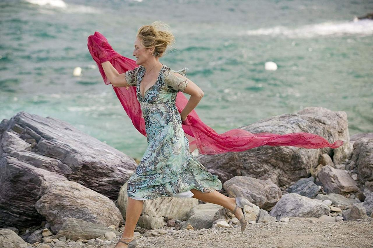 """<p>A love story. A Greek island. A ton of fun. Realistically, <em>Mamma Mia </em>is the ultimate summer movie. Sophie (Amanda Seyfried) is getting married, and wants her father to walk her down the aisle. The problem? Her mother, Donna (<a href=""""https://www.oprahmag.com/entertainment/tv-movies/g25656673/meryl-streep-movies-list/"""" target=""""_blank"""">Meryl Streep</a>), has kept her father's identity from her. Sophie invites all three potential fathers to their hotel in Greece, and so begins a story of love and secrets—all set to the music of ABBA.<br></p><p><a class=""""body-btn-link"""" href=""""https://www.amazon.com/gp/video/detail/B00C30BMRA/?tag=syn-yahoo-20&ascsubtag=%5Bartid%7C10072.g.27063693%5Bsrc%7Cyahoo-us"""" target=""""_blank"""">Watch Now</a></p>"""
