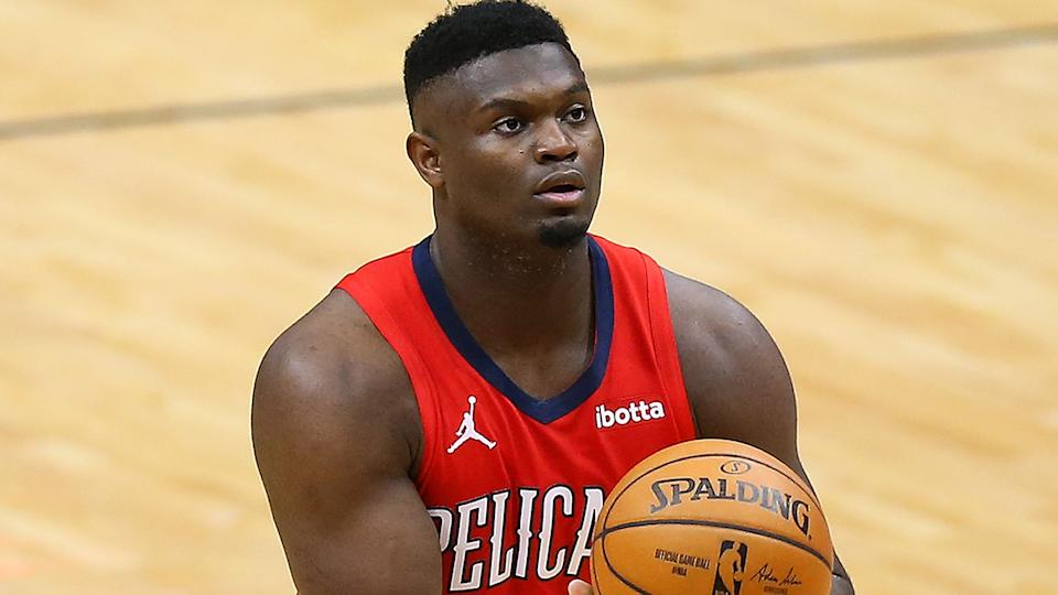The New Orleans Pelicans have announced that eligible members of the team have received their coronavirus vaccines, after the state of Louisiana expanded eligibility to most citizens 18 and over. (Photo by Jonathan Bachman/Getty Images)