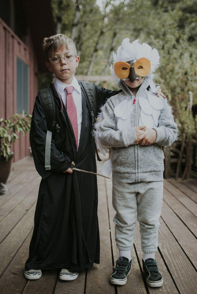 """<p>We love Halloween costumes that feature unlikely duos. While dressing as Harry and Ron is perfectly acceptable, this Harry and Hedwig costume takes things up a notch. </p><p><a class=""""link rapid-noclick-resp"""" href=""""https://www.amazon.com/Bonnie-Z-Leonardo-Masquerade-Owl/dp/B072C1P8CN/?tag=syn-yahoo-20&ascsubtag=%5Bartid%7C10055.g.33300912%5Bsrc%7Cyahoo-us"""" rel=""""nofollow noopener"""" target=""""_blank"""" data-ylk=""""slk:SHOP OWL MASKS"""">SHOP OWL MASKS</a></p><p><a class=""""link rapid-noclick-resp"""" href=""""https://www.amazon.com/Child-Potter-Deluxe-Costume-Medium/dp/B000UV3G2S/?tag=syn-yahoo-20&ascsubtag=%5Bartid%7C10055.g.33300912%5Bsrc%7Cyahoo-us"""" rel=""""nofollow noopener"""" target=""""_blank"""" data-ylk=""""slk:SHOP HARRY POTTER COSTUMES"""">SHOP HARRY POTTER COSTUMES</a></p>"""